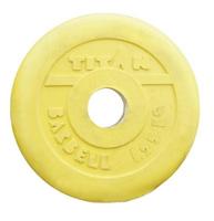 Диск-блин обрезиненный желтый 1,25 кг