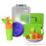 Набор для пикника Weekend пластик на 4 персоны