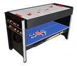 Многофункциональный игровой стол Global 3 в 1 (бильярд, аэрохоккей, настольный теннис)