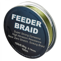 Плетеный шнур Sufix Feeder Braid Gore Olive Green 100м