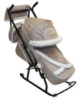 Санки-коляска Северные Фантазия с муфтой и сумкой