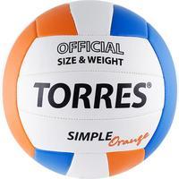 Мяч волейбольный TORRES Simple Orange размер 5