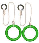 Кольца гимнастические круглые зеленые КГ01В