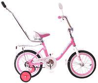 """Детский велосипед Black Aqua 14"""" Princess с ручкой"""