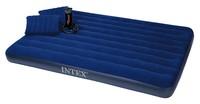 Кровать Intex Classic Downy 152x203x22 см флок, 2 подушки, ручной насос, 68765