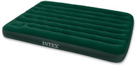 Кровать Intex Downy 137x191x22 см флок, встроенный ножной насос 66928